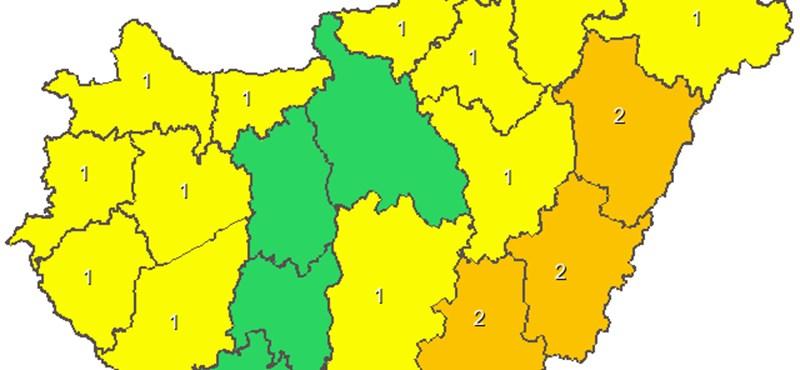 Szakadni fog az eső országszerte – térképes figyelmeztetés