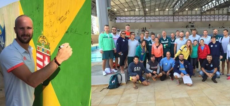 Különleges ajándékkal búcsúztatták a magyar pólósokat a brazil edzőtábor után – fotó