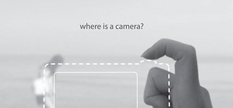Szuperminimalista fényképező a mutató- és a hüvelykujjadból?