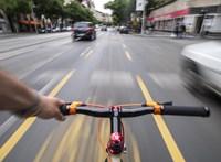 A Nagykörút újabb részén nyit kerékpársávot a BKK