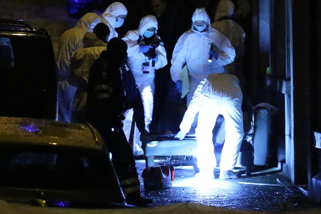 afp.15.01.15. - Verviers, Belgium: terrorellenes művelet - többen életüket vesztették egy terrorellenes műveletben - belga terror