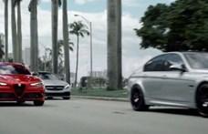 Nem fogja vissza magát az Alfa Romeo, ha az Audit, BMW-t, Mercedest kell cikizni – videó