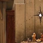 Banksy új alkotása bukkant fel Betlehemben