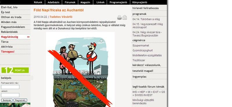 Cinikus az Auchan? – rajzpályázat a környezetvédelemről