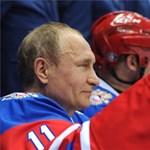 Putyin is pályára lépett egy szocsi hokimeccsen - fotók