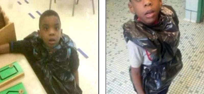 Megdöbbentő eset: kukászsákot húzott a tanár az általános iskolás diákra