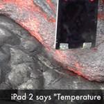 Lávába dobták az iPadet (videó)