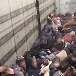 79 szírt és irakit találtak egy kamionban Ártándnál – videó