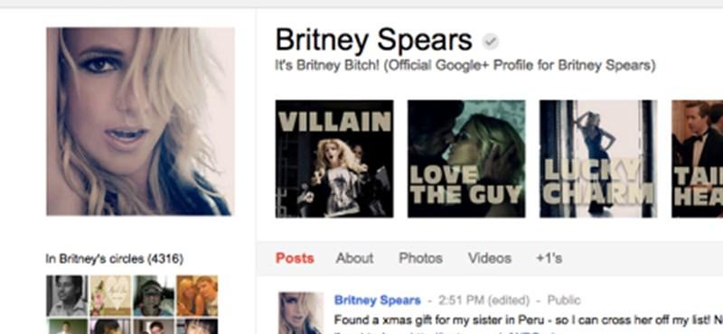 Google+ Britney Spears a legnépszerűbb
