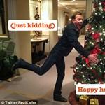 Kiefer Sutherland újra nekimegy a karácsonyfának?