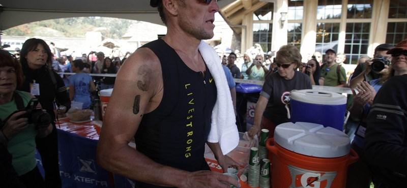 Armstrong új sportágában is remekel