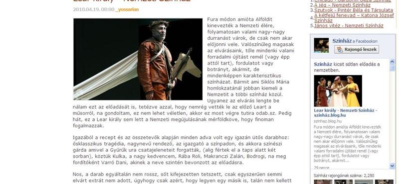 Lear király sem hozta el a Nemzeti Színház megújulását