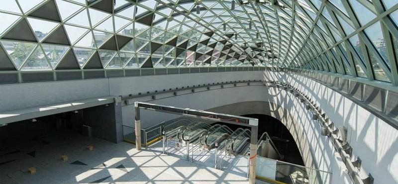 Fotók: Kész van a 4-es metró első állomása