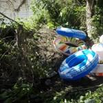 Összekötözött úszógumikon akart átkelni a Tiszán tíz afgán