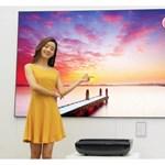 Két és fél méteres kép plazmatévé minőségben: ilyen az LG új projektora