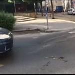 Siklót videóztak le a Wesselényi utcán