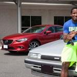 20 éves Mazdával furikázik az NFL-sztár