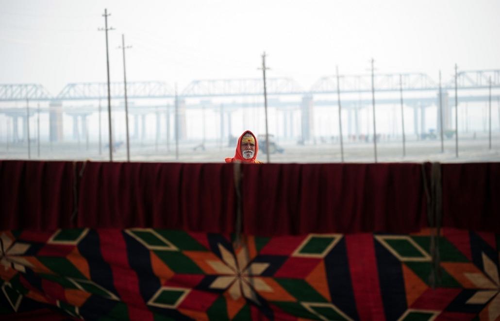 afp. hét képei - Alláhábád, India Magh Mela fesztivál, szent ember 2014.12.16.