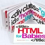 Rágható képeskönyv a HTML programozásról babáknak
