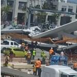 Embereket temetett maga alá egy összedőlt gyaloghíd Miamiban