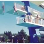 Videó: Toronyugrás közben gondolja meg magát, fájdalmas lesz a vége