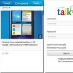 Natív Twitter- és Google Talk app is lesz az új BlackBerryken