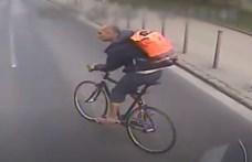 Busz elé hajtott egy bringás, keresi a rendőrség