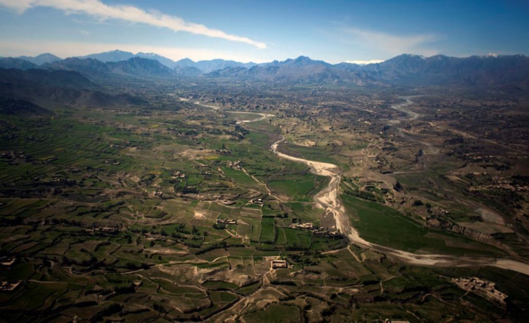 Kandaro völgy Pakisztánban Afganisztán határán. Az Egyesült Államok hat hónapig tartó offenzívája visszaszorította az ellenséges milicákat a térségből. 2009. február.
