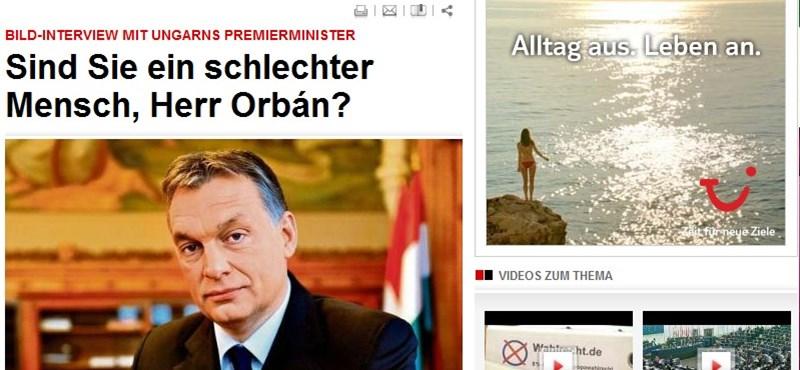 """""""Orbán úr, ön rossz ember?"""" - a Bild kérdezte a magyar kormányfőt"""