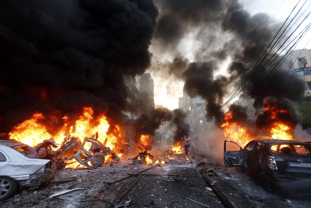 afp. libanon, robbantás, pokolgép, 2014.01.02.