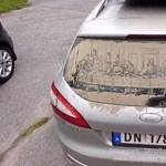 Van, aki csak szmájlit rajzol a koszos autójára, ő az Utolsó vacsorát