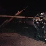 Idióta országúti versengés miatt halt meg egy nő tegnap este Lepsénynél - fotó