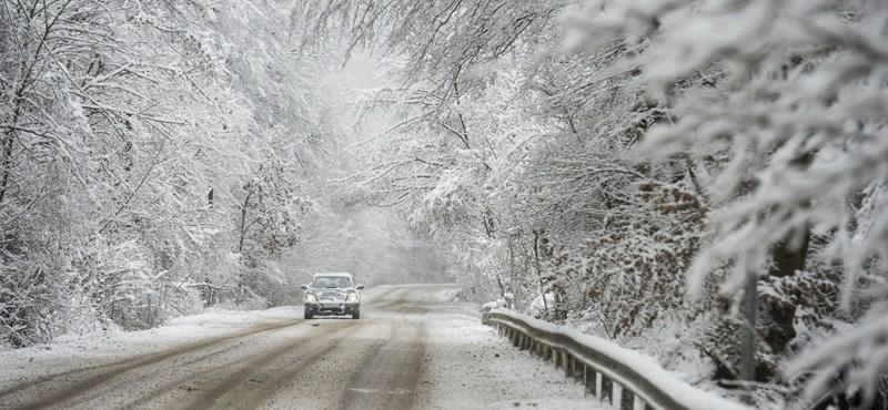 Visszatért az igazi tél, 17 megyére adtak ki figyelmeztetést