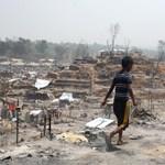 Leégett a rohingya menekülttábor Bangladesben – tízezrek maradtak fedél nélkül, rengeteg lehet a halott