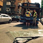 Fotó: Karambolozott a 15-ös busz Újlipótvárosban