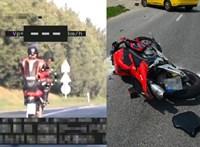 Balesetet szenvedett a motoros, akit pár napja 236 km/h-val száguldva kaptak el
