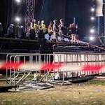 Részben összedőlt egy színpad Németországban, sokan megsérültek