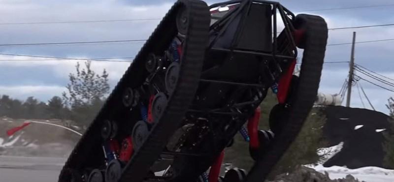 Videó: A világ egyik legőrültebb, 1500 lóerős járműve