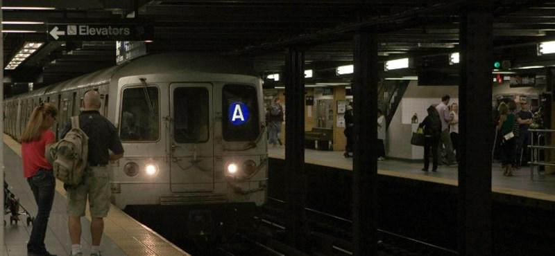 Döbbenetes felvételek: özönvíz a New York-i metróban