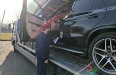 Kapitális luxus Mercedes akadt horogra Csengersimánál