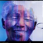 Fotó: Óriásportréval köszöntötték a 95 éves Mandelát