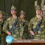 Katonai esküt tett Orbán Gáspár