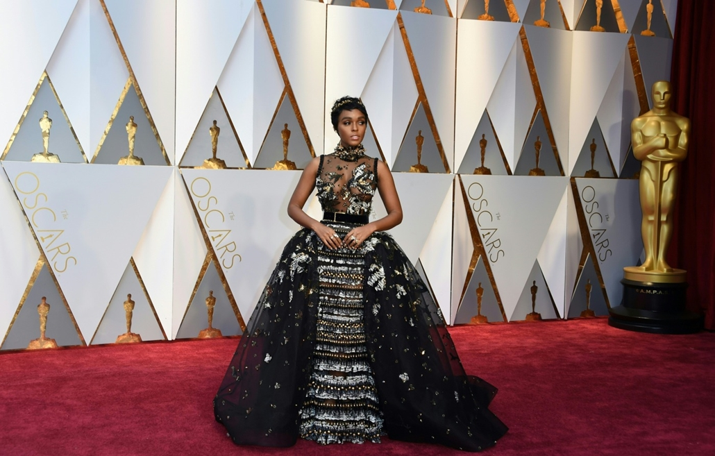 afp.17.02.27. - Hollywood, USA: 89. Oscar-díj - érkezés - Janelle Monae - Oscar-díj 2017