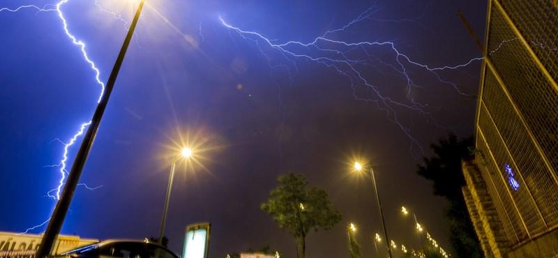 100 kilométeres széllel tört be tegnap a vihar – fotó
