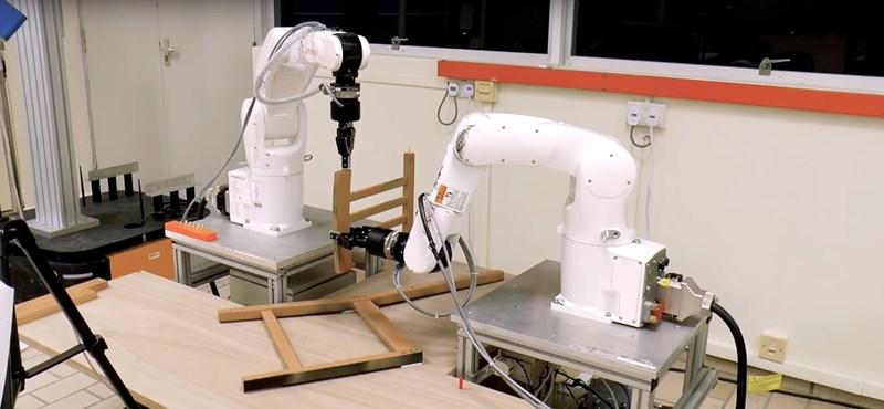 Imádja az IKEA-t, de utálja összeszerelni a bútorokat? Itt a robot, ami 20 perc alatt végez – videó