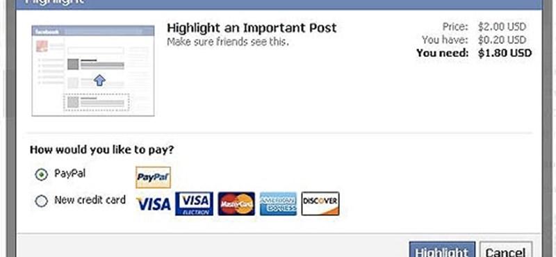 Pénzt kérne a Facebook a megosztások kiemeléséért