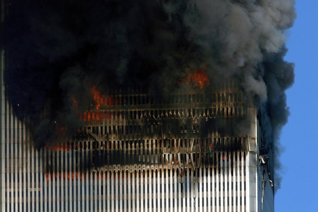 afp.01.09.11. - New York, USA: a világkereskedelmi központ (World Trade Center) elleni támadás - wtc, 911