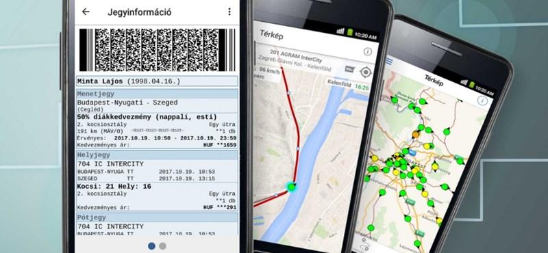 A MÁV megcsinálta: itt az okostelefonnal vásárolható vonatjegy