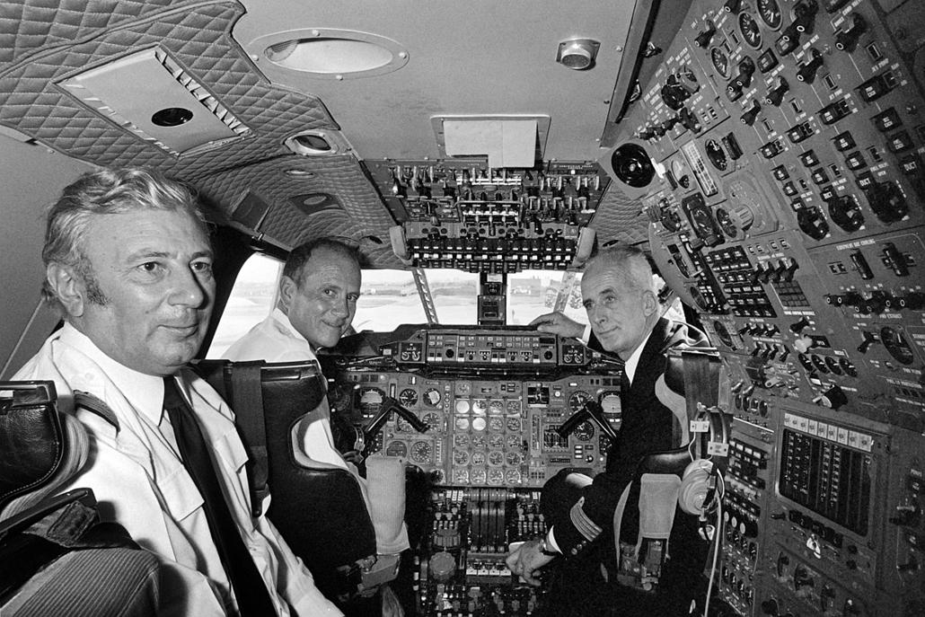 afp.1977.10.19. - Franciaország: New York felé - első út előtt- Concorde, repülőgép, nagyítás