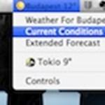 Frissülő időjárás-adatok a menüsávon OS X alatt, ingyen
